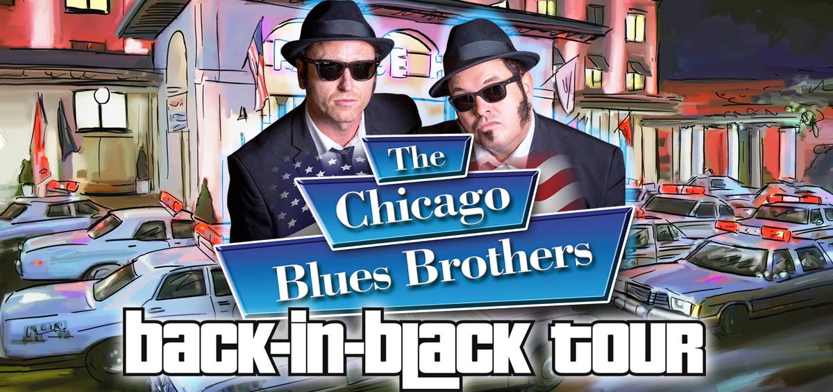 THE CHICAGO BLUES BROTHERS - BACK IN BLACK TOUR - Grimsby